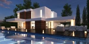 casa moderna de lazer