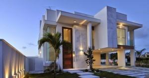fachadas-casa-moderna-sobrado-modelos-linhas-retas-